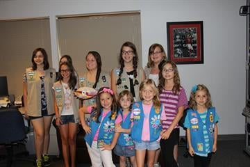 Girl Scout Talk and Tour - July 2012 - Sports Department By Christina Duggan
