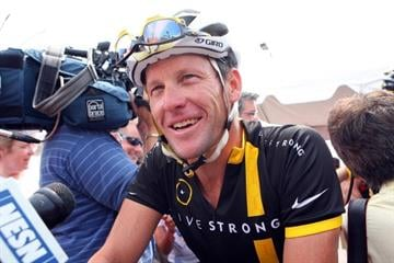 BOURNE, MASSACHUSETTS - AUGUST 06: Lance Armstrong attends the 2011 Pan-Massachusetts Challenge on August 6, 2011 in Bourne, Massachusetts. (Photo by Gail Oskin/Getty Images) By Gail Oskin