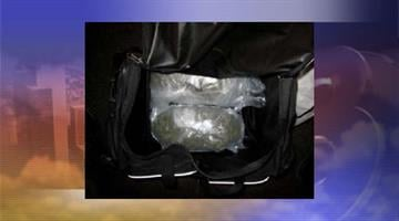 Duffel bag containing 2 pounds of hydroponics By Jennifer Thomas