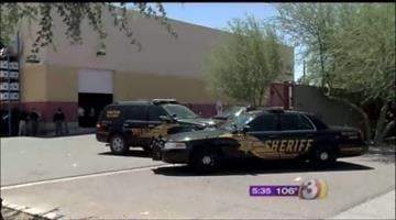 Deputies served a search warrant at Autofit near 18th Avenue and Buckeye Road. By Jennifer Thomas
