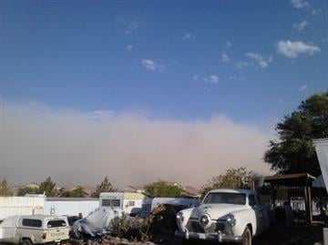 Officials say a late afternoon dust storm that moved into the Phoenix region reduced visibility and caused a series of crashes that closed at least one highway. By Mike Gertzman