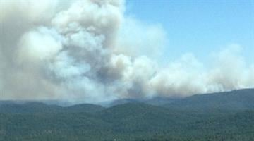 View of Poco Fire driving home from Payson By Jennifer Thomas