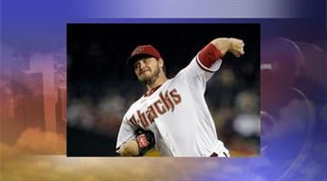 Arizona Diamondbacks' Wade Miley throws against the Seattle Mariners in the first inning Monday. By Jennifer Thomas