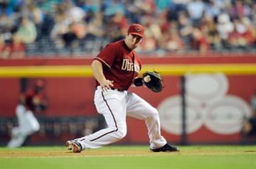 PHOENIX, AZ - JUNE 20:  Paul Goldschmidt #44 of the Arizona Diamondbacks makes a play on a ground ball against the Seattle Mariners at Chase Field on June 20, 2012 in Phoenix, Arizona.  (Photo by Norm Hall/Getty Images) By Norm Hall