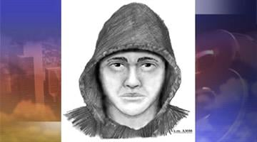 Sketch of robbery suspect By Jennifer Thomas