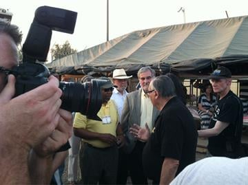 Maricopa County Sheriff Joe Arpaio tours Tent City with leaders from the Unitarian Universalist Association By Mike Gertzman