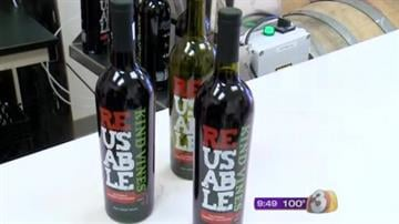 A Flagstaff businessman bottles wine in reusable wine bottles to show wineries there is a better way to distribute their products. By Mike Gertzman