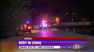 A body was found in a canal near Eighth Street and Stapley Drive in Mesa. By Jennifer Thomas
