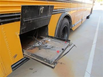 Approximately two dozen batteries were stolen from Peoria school buses. By Jennifer Thomas
