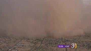 A dust storm rolled through the Valley on Tuesday evening that was 60 miles wide and 2,000 feet high, according to the National Weather Service in Phoenix. By Mike Gertzman