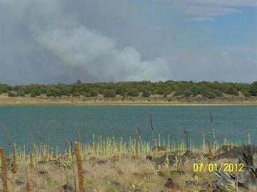 Fire view from Long Lake on July 1 By Jennifer Thomas