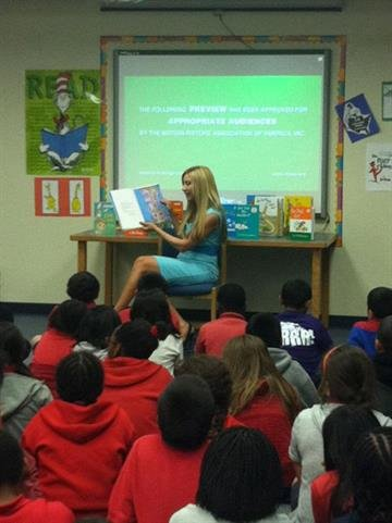 Read Across America - Carey at Glen F Burton By Christina Duggan