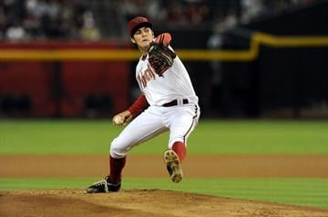 PHOENIX, AZ - JULY 03:  Trevor Bauer #17 of the Arizona Diamondbacks delivers a pitch against the San Diego Padres at Chase Field on July 3, 2012 in Phoenix, Arizona.  (Photo by Norm Hall/Getty Images) By Norm Hall