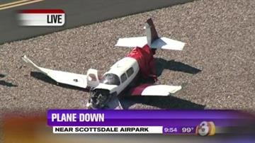 A small plane crashed at Scottsdale Airport. By Jennifer Thomas