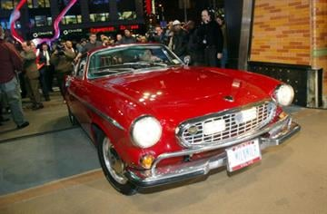 403008 11: Irv Gordon drives his 1966 Volvo P1800 at the Volvo 75th Anniversary event March 27, 2002 in New York City. Gordon was honored for driving the car two million miles. (Photo by Mario Tama/Getty Images) By Mario Tama