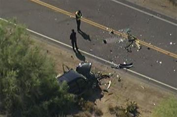 Carefree Highway west of Scottsdale Road was shut down for part of Tuesday morning after police said the driver of a Chevy Blazer hit other vehicles, crashed through a wall and assaulted residents in the area. By Jennifer Thomas
