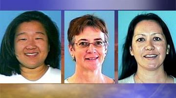 From left to right: Robin Ramirez, 40, Primary suspect; Marilyn Johnson, 54. Assistant; Amiko (Amy) Fountain, 42, Assistant By Mike Gertzman