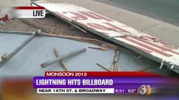 Mother Nature unleashed her fury on the Valley overnight, knocking out traffic lights all over the metro area and even tearing down a billboard. By Catherine Holland