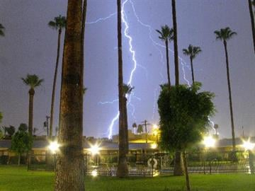 I caught a good one tonight 7/11/12 in Central Phoenix near 7th Ave and Camelback. Using a F8 stop and a 5 second exposure in the dark. By Catherine Holland