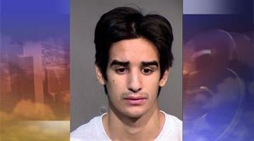 Tempe Police were called on Tuesday night after Michael Anthony Hurtado, 20, was seen crashing his truck into the gate of a parking garage at 922 E. Apache. By Andrew Michalscheck