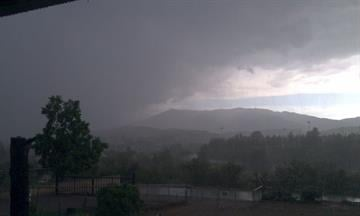 Linda Beichler reports Serious rain, lightning and thunder in Globe. Her TV is out her power has been off and on several times. By Mike Gertzman