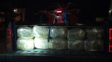 Marijuana bundles in back of truck By Jennifer Thomas