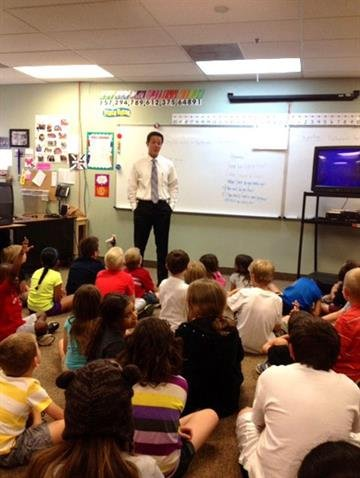 Ryan O'Donnell visits Dobson Academy By Christina Duggan
