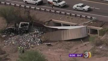 Authorities have confirmed that seven people died Sunday morning when a semi truck crashed head-on into a van on Interstate 10. By Catherine Holland