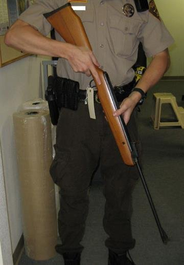 Pellet gun recovered following the arrest of Donalson By Mike Gertzman