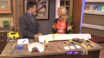 The entire price for this project with three 3-foot shelves is about $15 if you already have a hack saw or a power  jig saw. By Catherine Holland