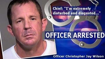 Officer Christopher Jay Wilson arrested By Catherine Holland