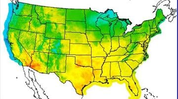 Temperature map for Aug. 8, 2012 By Catherine Holland