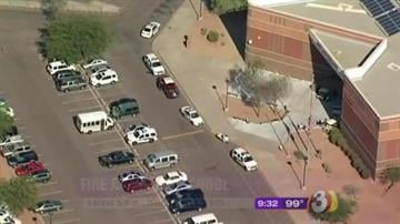 Firefighters responded to a fire at North Canyon High School in Phoenix Thursday morning. By Jennifer Thomas