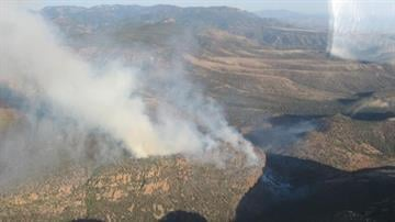 The Mistake Peak Fire is burning 11 miles east of Punkin Center, Ariz. By Jennifer Thomas
