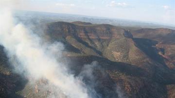 The Mistake Peak Fire is burning 11 miles east of Punkin Center, Ariz. By Jennifer Thomas