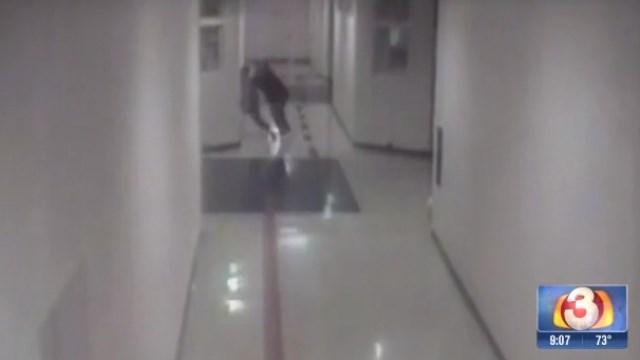 Surveillance video shows assault.