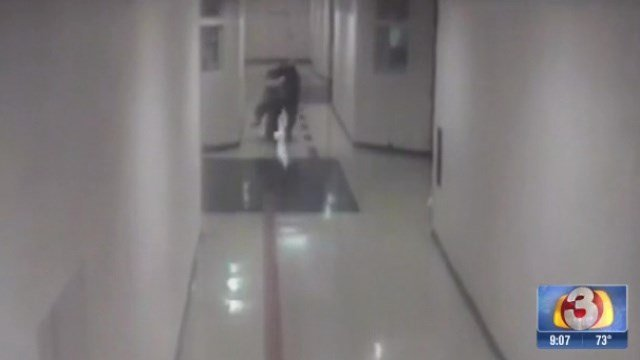 Surveillance video shows assault.