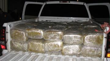 Marijuana loaded in the back of the vehicle By Jennifer Thomas