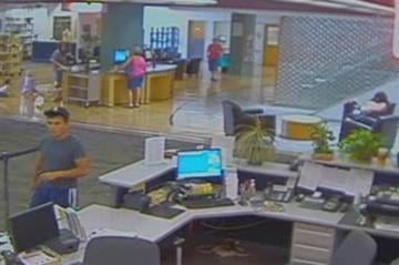 The suspect approached the victim outside the Main Public Library in Mesa and asked for a ride. By Jennifer Thomas