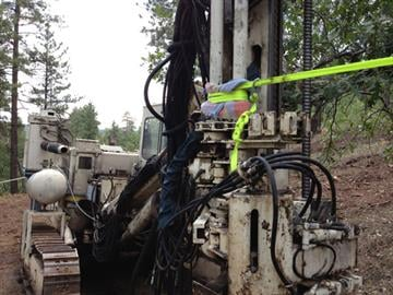 James Kennedy has been sitting in a tree that's in the path of the pipeline project. The ropes holding him up are attached to other trees as well as the machinery crews use to build the line. By Jennifer Thomas