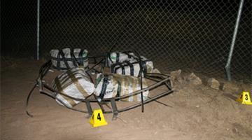Border Patrol agents seized marijuana dropped from air. By Jennifer Thomas