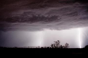 Out taking lightning photos near my home in Wittmann, AZ. By Catherine Holland