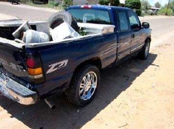 Truck that James Lewis was driving with the stolen condenser unit during the traffic stop on Aug. 4 By Jennifer Thomas