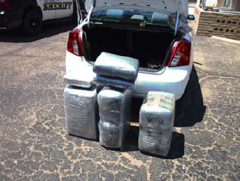 Deputies seized six bundles of marijuana from the truck of a vehicle during a traffic stop near Eloy. By Jennifer Thomas