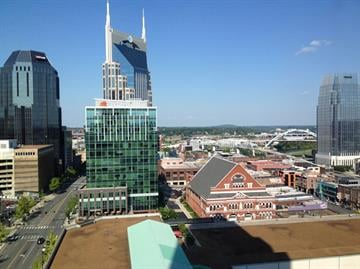 The view from Tim Ring's hotel room at the Renaissance in Nashville, Tenn. By Mike Gertzman