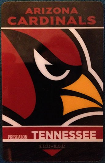 The Renaissance Hotel in Nashville is using specialized key cards to welcome the Arizona Cardinals to town. By Mike Gertzman