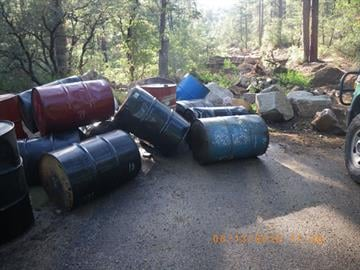 Prescott National Forest officials are seeking information on illegal dumping south of Prescott. By Jennifer Thomas