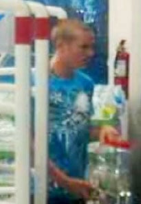 Anthony Stuber pictured leaving the Johnson Ranch Walgreens with donation jar on Aug. 9 By Jennifer Thomas