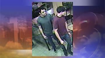 Police are looking for a suspect (left) and a person of interest in an aggravated assault outside a Jack in the Box restaurant. By Jennifer Thomas