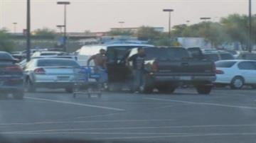 Surveillance video shows the suspects in a store parking lot near 75th Avenue and Encanto Boulevard on Aug. 9. By Jennifer Thomas